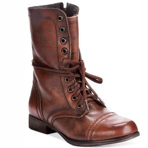 Steve Madden Troopa Combat Boots brown leather 8